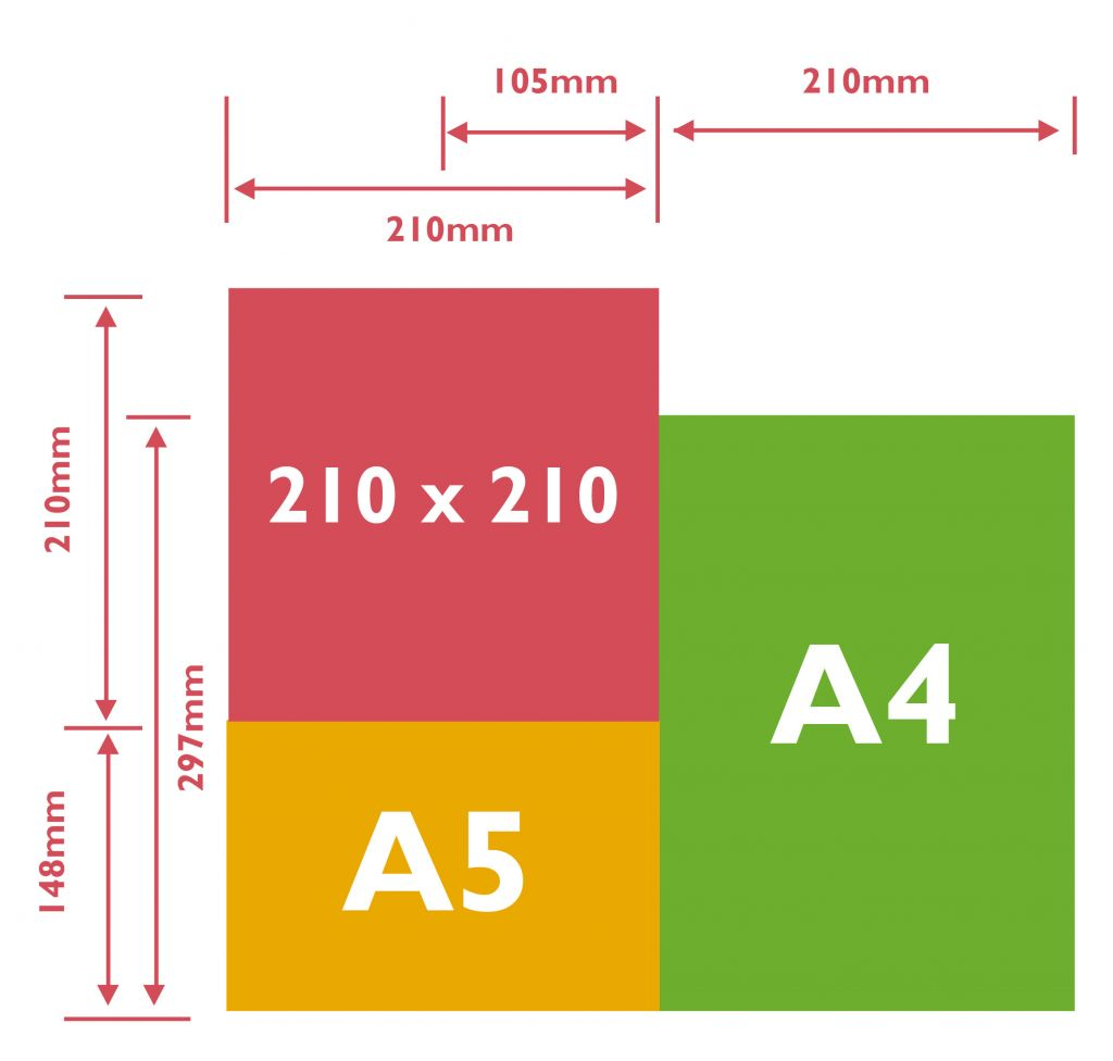 Common sizes for brochures